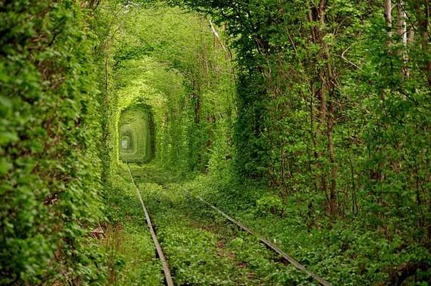 Resultado de imagen para túnel del amor en ucrania