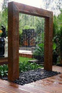 fuentes de agua exterior