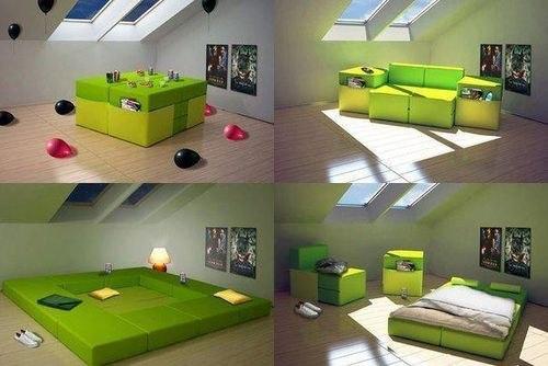 Muebles multifuncionales para espacios peque os - Muebles pisos pequenos ...