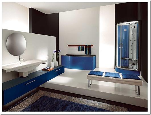 El color azul en la decoraci n de interiores - Colores azules para paredes ...