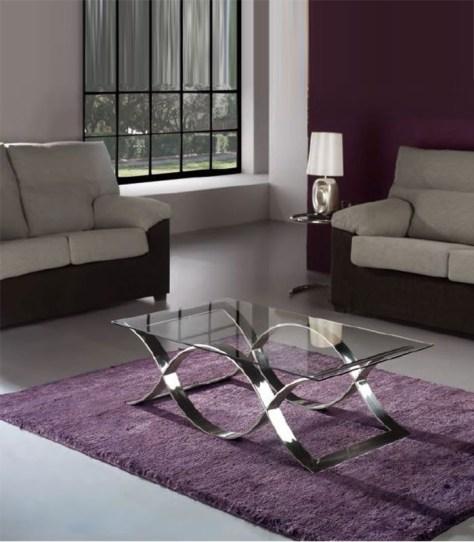 decorar una mesa de centro con alfombra.