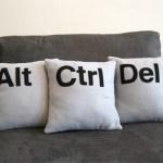 almohadones decorativos de teclas de ordenador