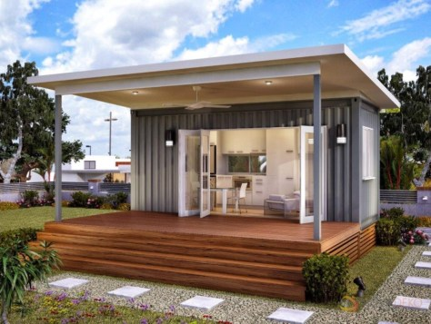 casas de container con porche