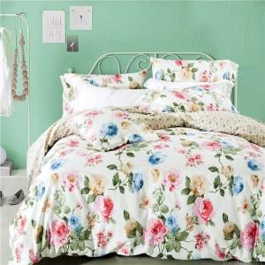 decorar una cama floral