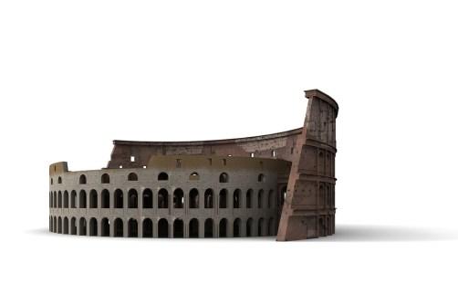 recreación de el coliseo romano