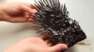 Manualidad estilo juego de tronos, trono de hierro