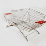 muebles reciclados con con carritos de supermercado