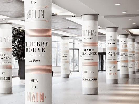 decorar una columna con papel de pared