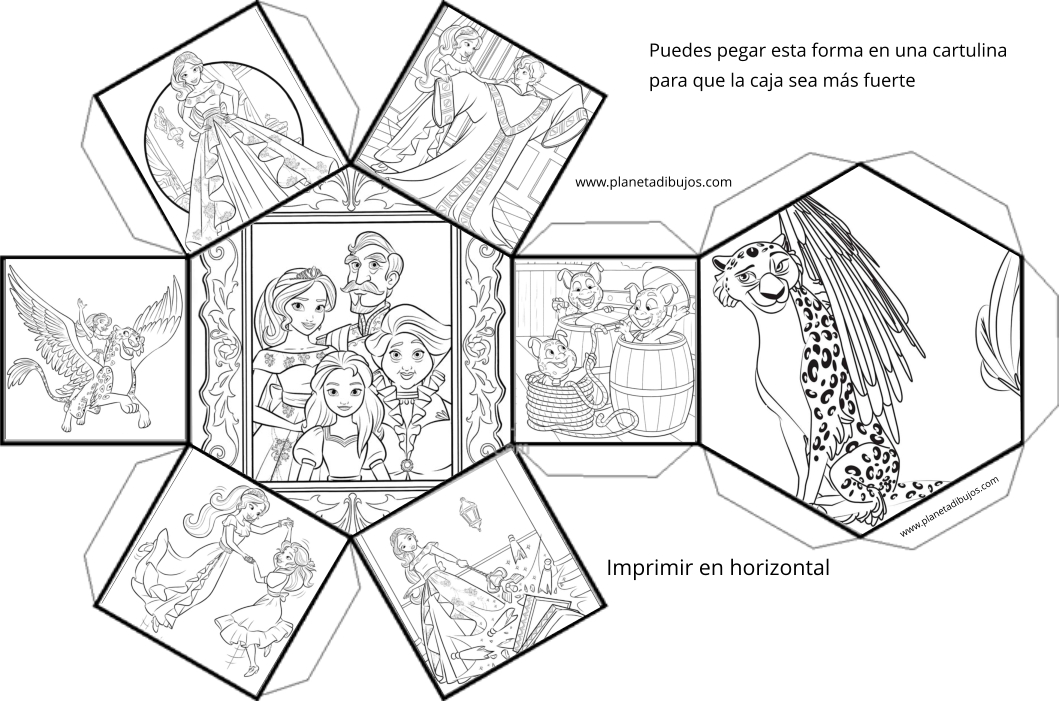Elena de Avalor para pintar  Dibujos para imprimir y