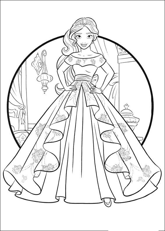 En esta página volverás a encontrarte con elena, una de las princesas de disney. Elena de Avalor para pintar - Dibujos para imprimir y