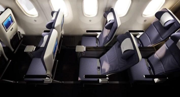 Compare Premium Economy Cabin Seating and Services