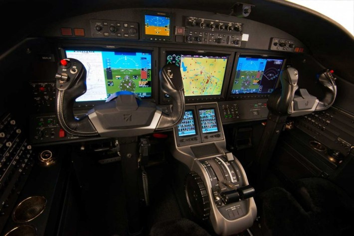 Cessna Alpine Edition Citation CJ2+ business jet avionics cockpit upgrade