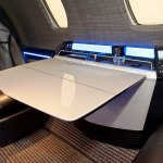 Cessna Citation Ten cabin seating and table