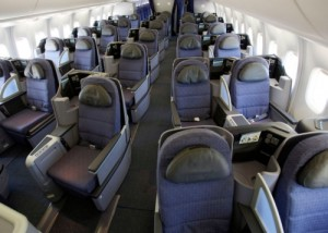 New BusinessFirst Cabin on United Boeing 767-300