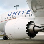 United Boeing 787 Dreamliner Aircraft Wing