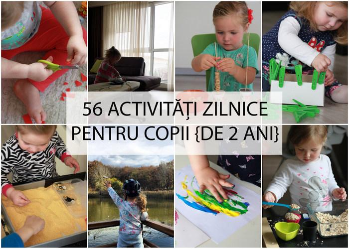 56 activități zilnice pentru copii cu vârsta 2-3 ani