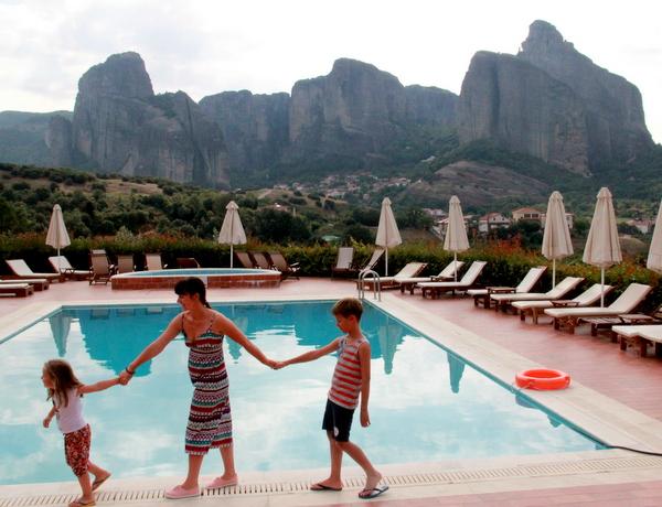 Meteora cu copiii, Grecia