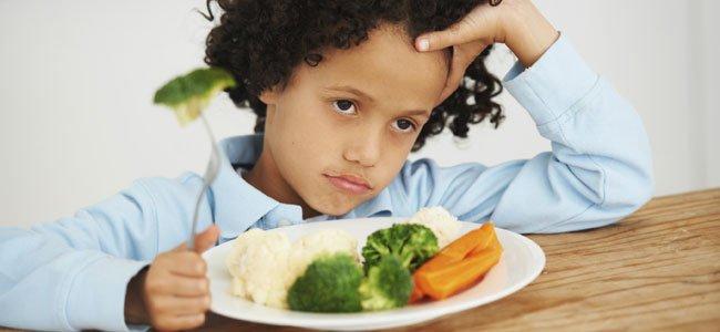 no quiere comer verduras