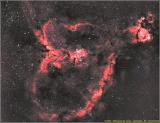 IC1805 - Nébuleuse du coeur - Cassiopée