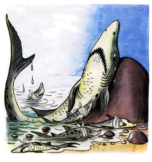 доктор Айболит акула акулята боллеет боль