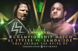 AJ Styles se enfrentará a Samoa Joe en WWE Crown Jewel