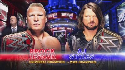 Survivor Series Aj Styles vs Brock Lesnar