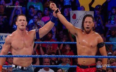Cena y Nakamura en el dark match de Smackdown