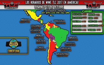 Horarios WWE TLC 2017 en América