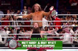 Matt Hardy y Bray Wyatt nuevos campeones por pareja de WWE RAW en Greatest Royal Rumble