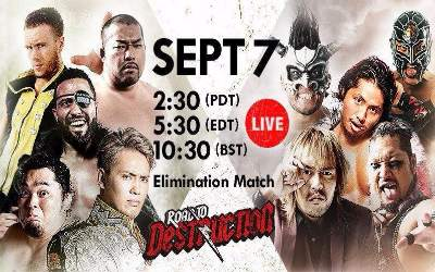 New Japan Pro Wrestling Resultados 7 Septiembre