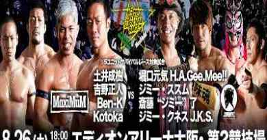 Resultados Dragon Gate Agosto 2017