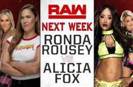 Ronda Rousey debutará en un combate en WWE RAW la semana que viene