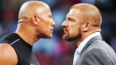 Triple H vs. The Rock