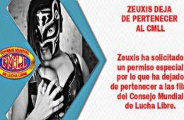 Zeuxis anuncia su salida del CMLL