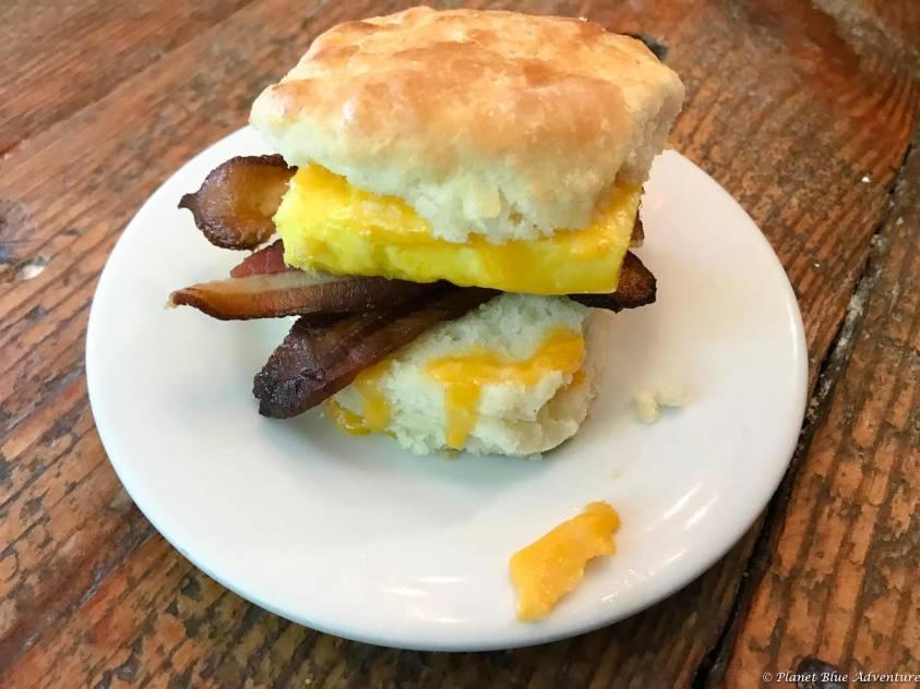 Arlington Virginia Bayou Bakery Breakfast Biscuit