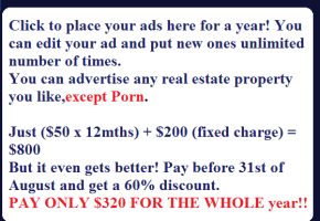 Click To Place AD HERE for a YEAR!