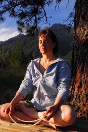 Maureen Meditation Outside
