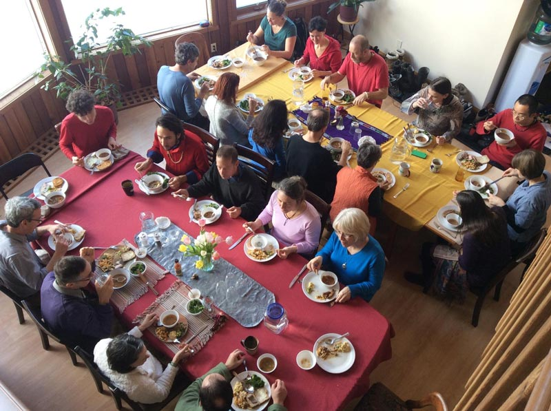 Meditation retreat dining