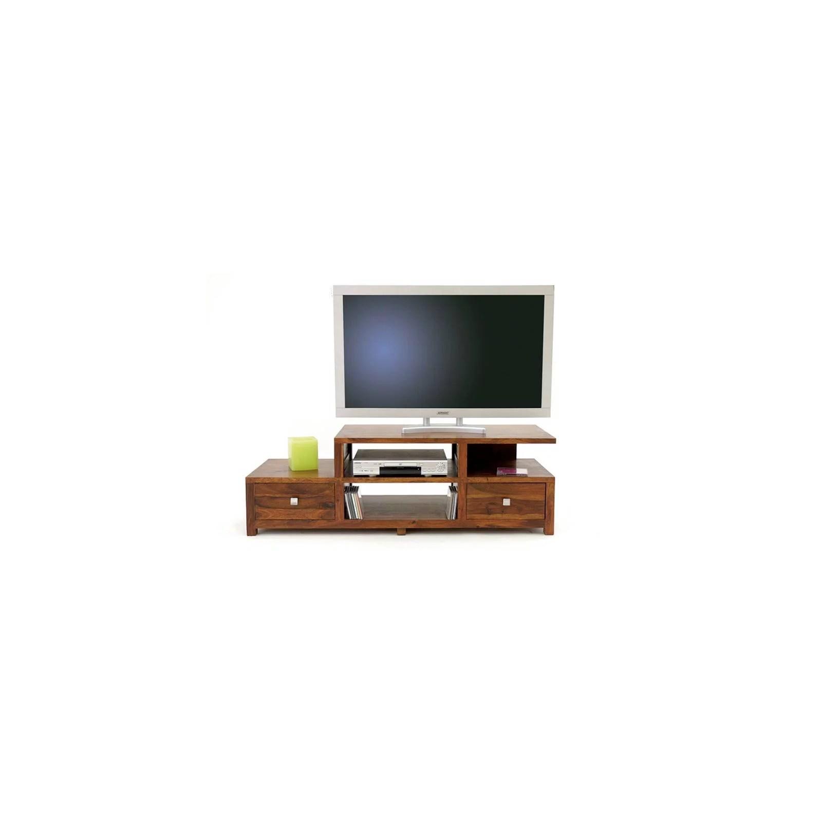 meuble tv palissandre 2 tiroirs lhassa