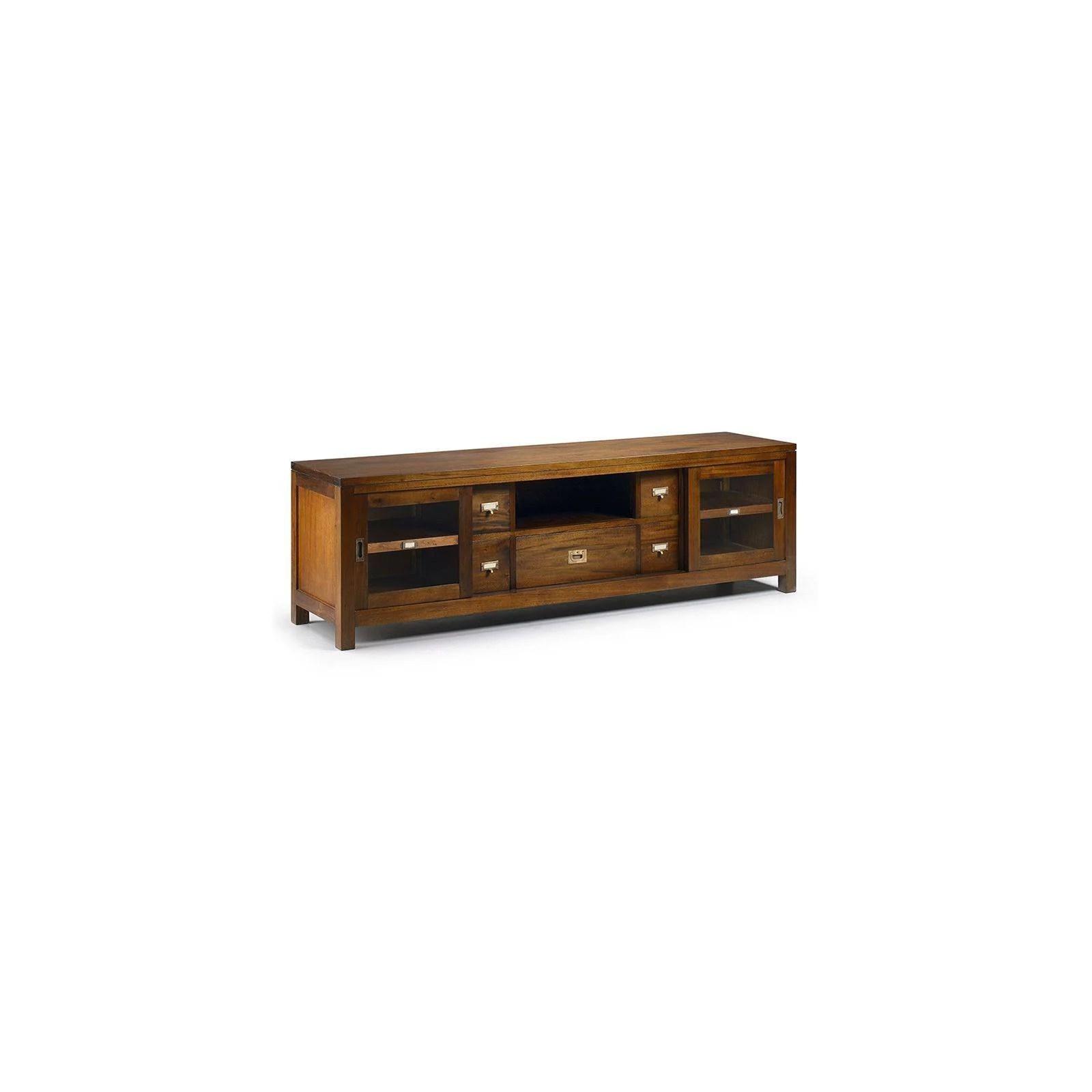 meuble tv gm colonial acajou massif meuble tendance exotique