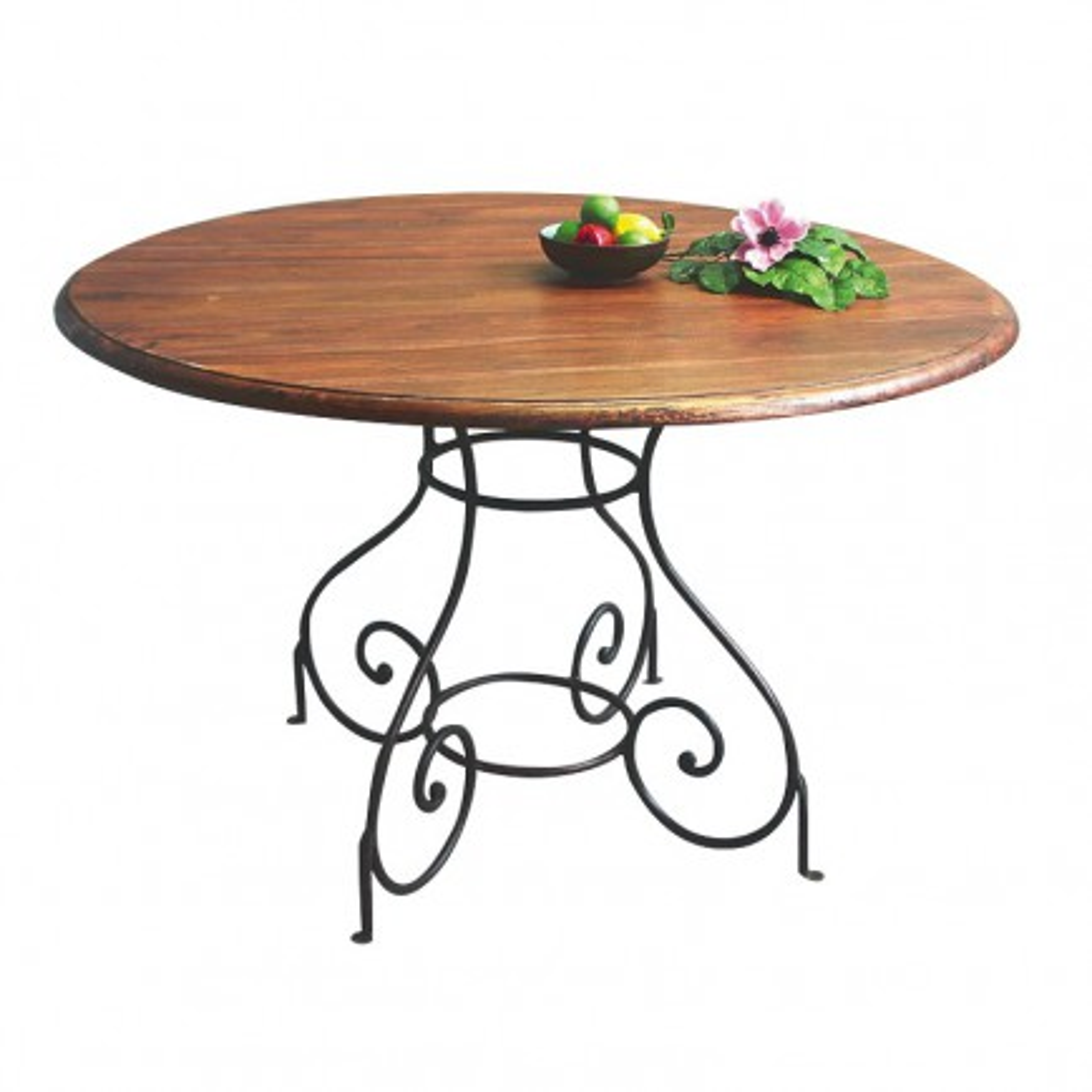 table de salle palissandre et fer forge
