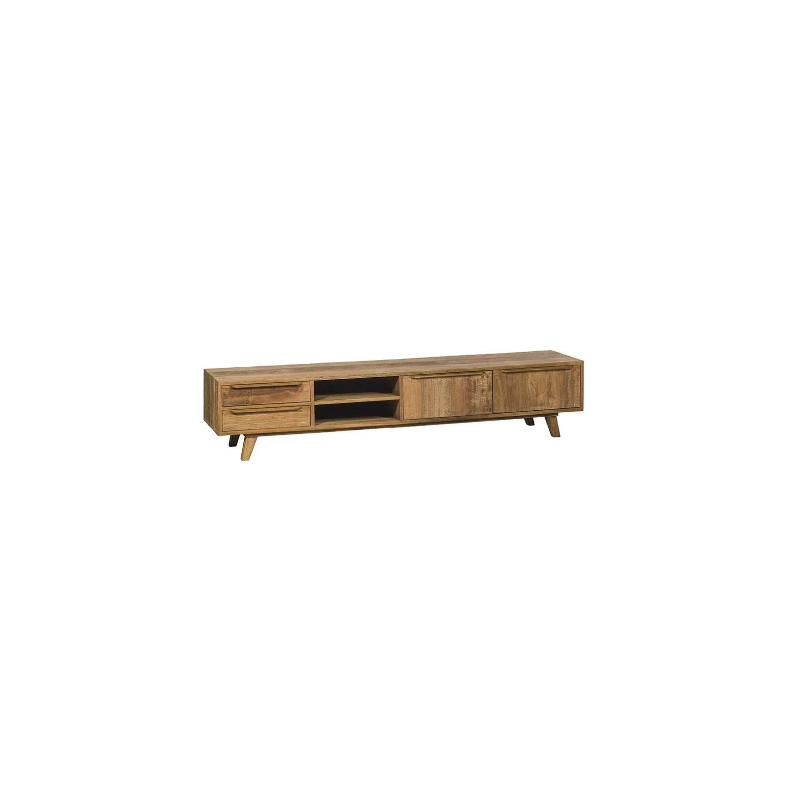 meuble tv bas gm lombok teck recycle