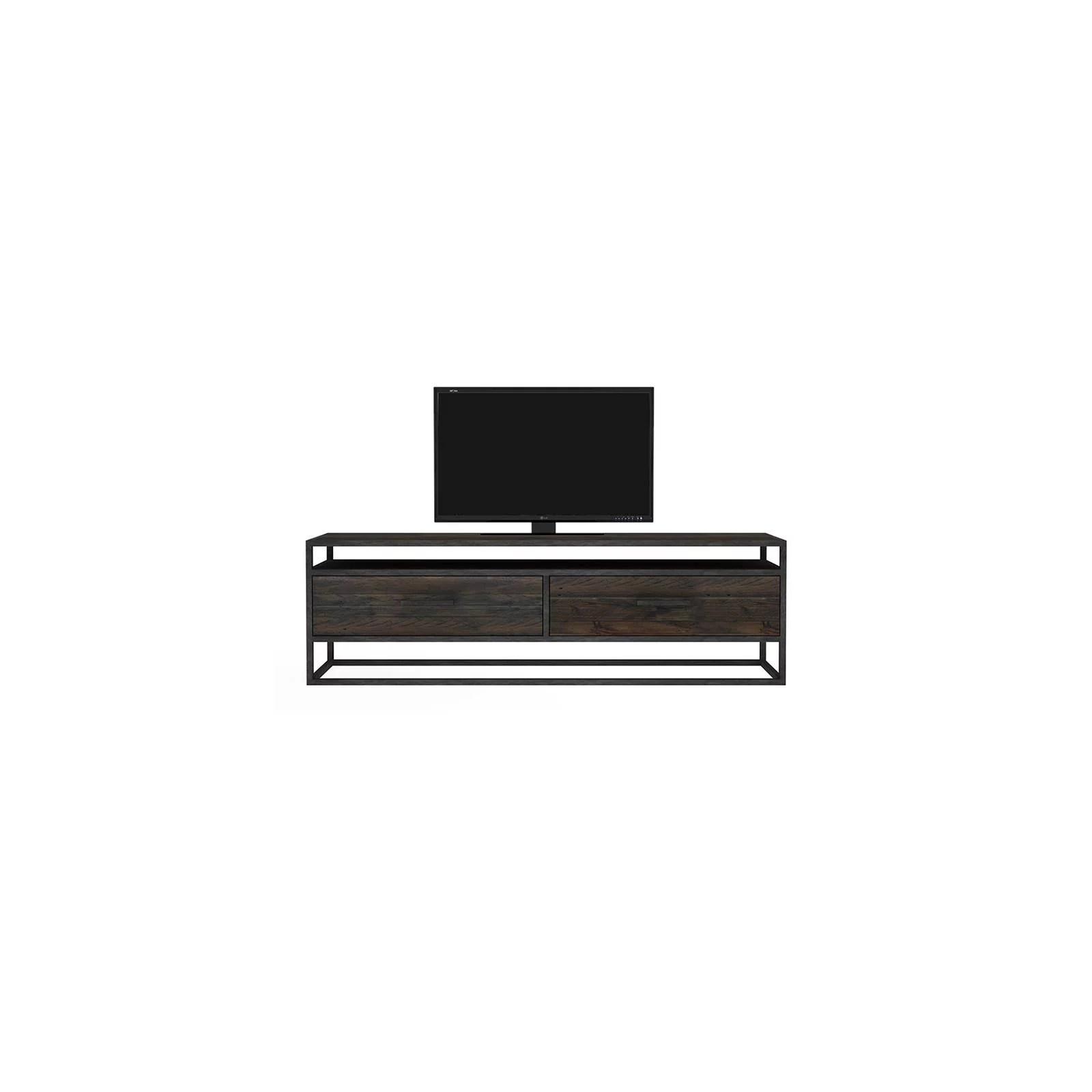 meuble tv 2 tiroirs bois recycle chicago