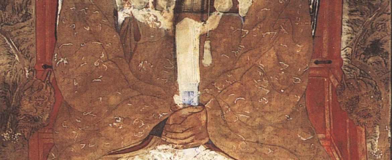 C'est une peinture de rouleau qui présente Dangun Wanggeom (단군 왕검), donc le roi Tangun. Elle a été effectuée par Chae Yong-sin (채용신) au XIXème siècle.
