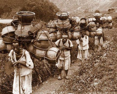 Une photo des paysans coréens (yangin ou sangin), 1899-1900
