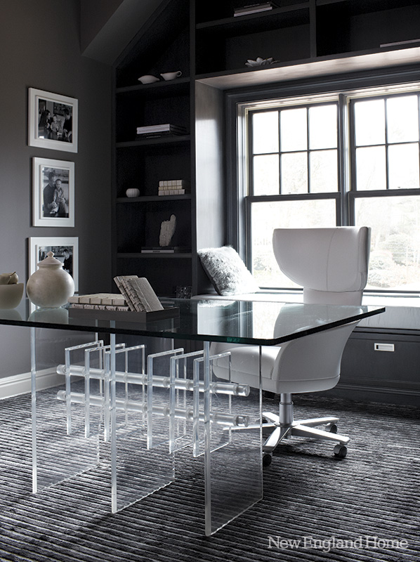 d cor en gris pour une maison coloniale planete deco a homes world. Black Bedroom Furniture Sets. Home Design Ideas