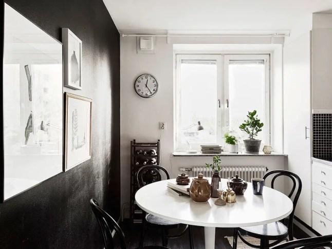 Mur noir pour cuisine blanche planete deco a homes world for Planete cuisine