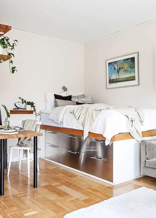 comment pallier le manque de rangement dans un studio planete deco a homes world. Black Bedroom Furniture Sets. Home Design Ideas