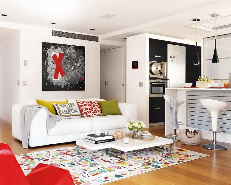 Un appartement avec des touches de couleur en espagne - Charmant appartement lumineux touches couleurs ...