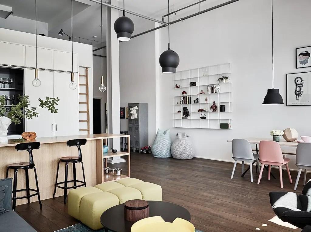 Du pastel dans l 39 ancienne usine planete deco a homes world for Deco appartement usine